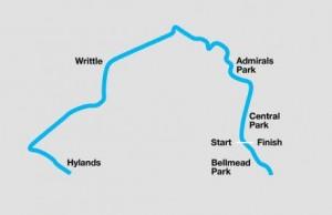 Chelmsford Marathon route
